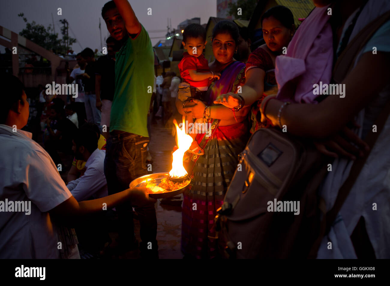 File Image - Hinduist  worshippers are seen in Haridwar, Uttarakhand, India. © Jordi Boixareu - Stock Image