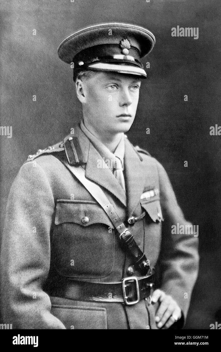 Edward VIII. Portrait of The Prince of Wales, future King Edward VIII and Duke of Windsor (1894-1972), in army uniform. - Stock Image