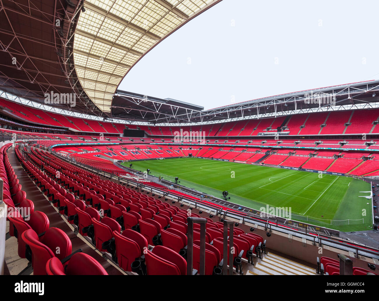 London, the UK - May 2016: View on Wembley stadium - the national football arena - Stock Image