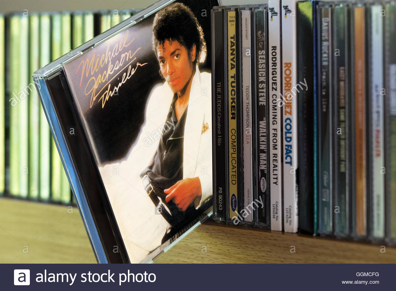 Thriller, Michael Jackson CD pulled out from among other