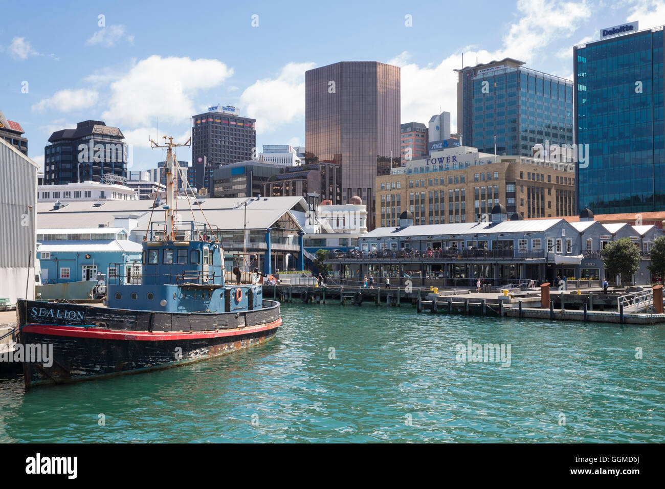 Wellington, North Island, New Zealand - Stock Image