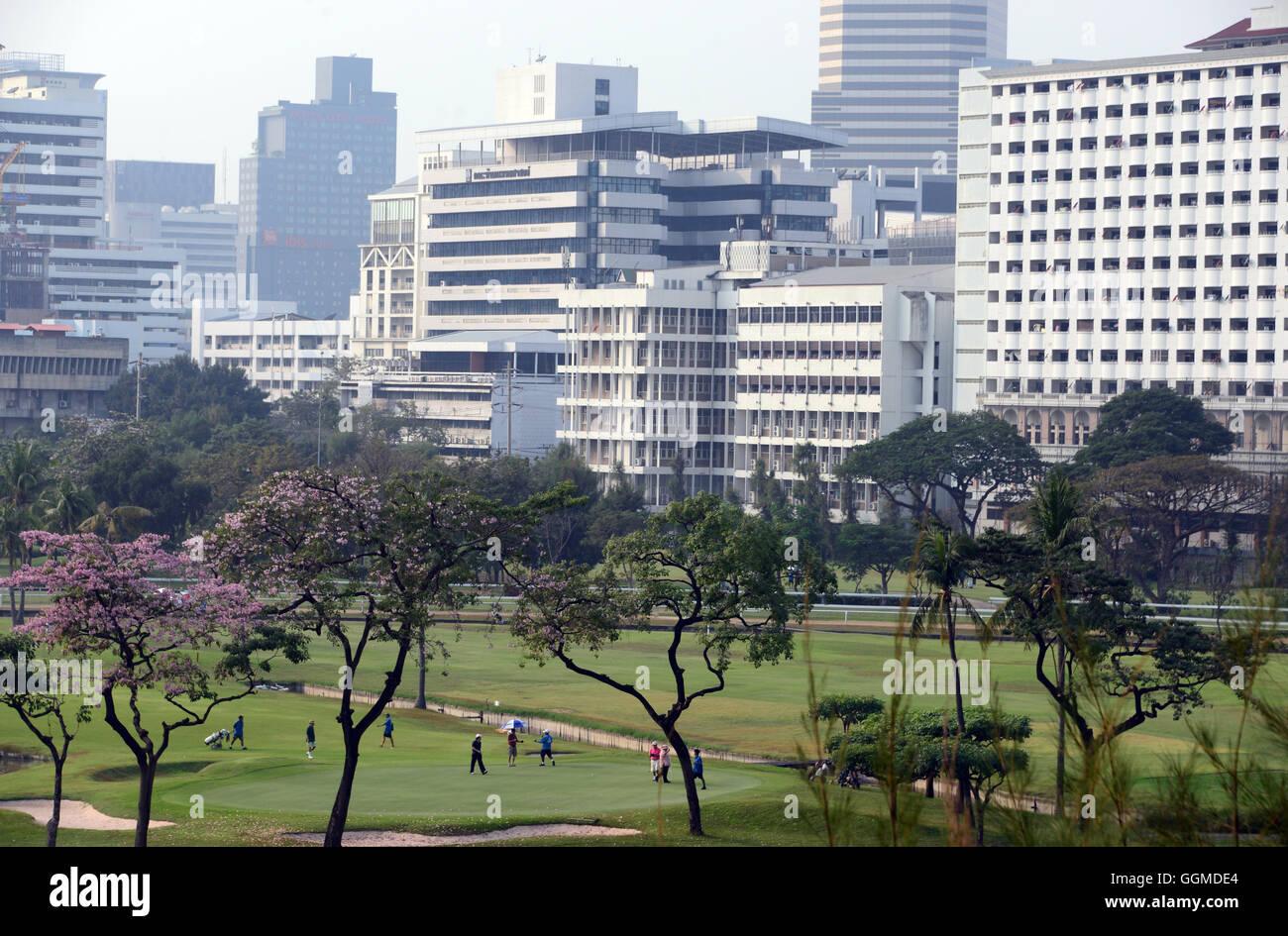 Golf course of the Royal Bangkok Sports Club, Bangkok, Thailand - Stock Image