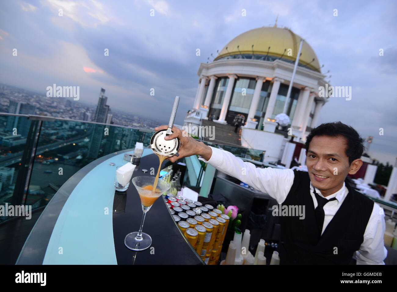 Sky Bar on the Lebua, Bangkok, Thailand - Stock Image