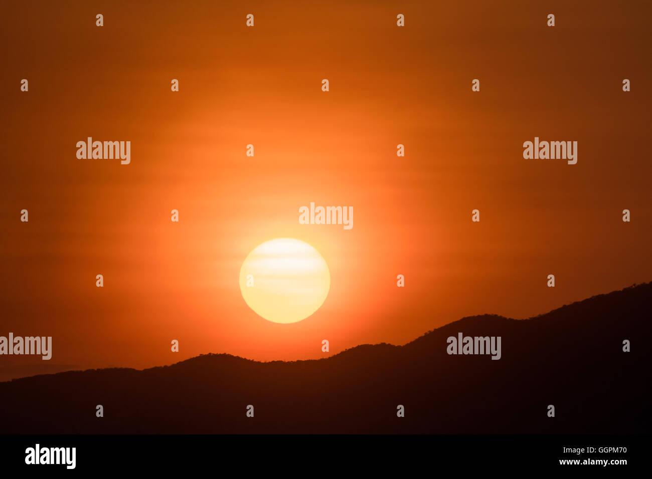 Tanzania, lake Natron, sunrise Stock Photo