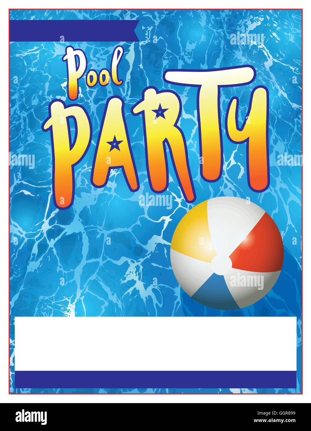 A blank pool party invitation template vector eps 10 available a blank pool party invitation template vector eps 10 available which is layered stopboris Images