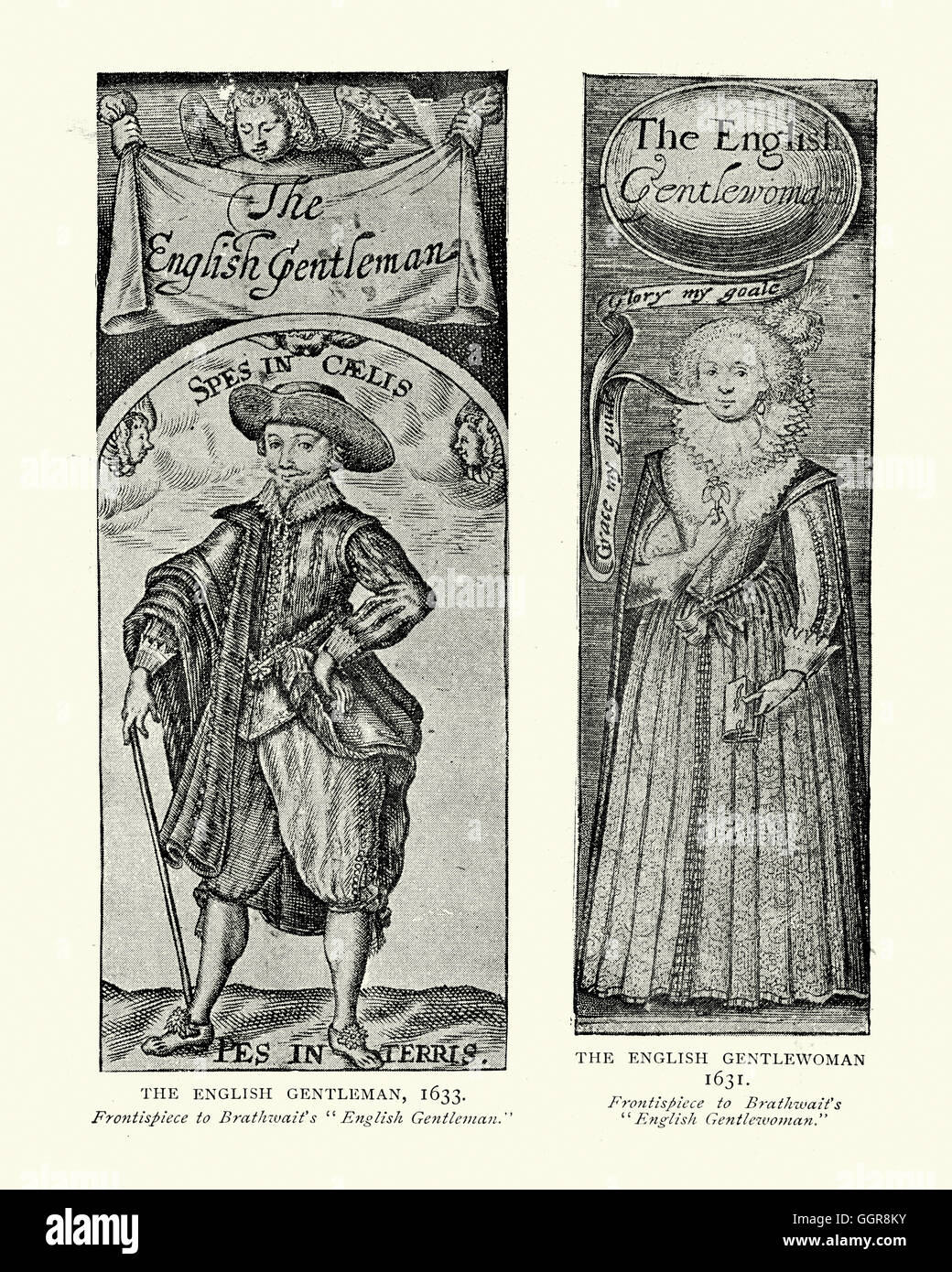 English Gentleman and Gentlewoman of the 17th Century - Stock Image