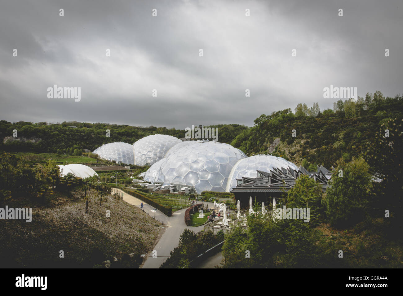 Eden Project in St Austell, Par, Cornwall, England. - Stock Image