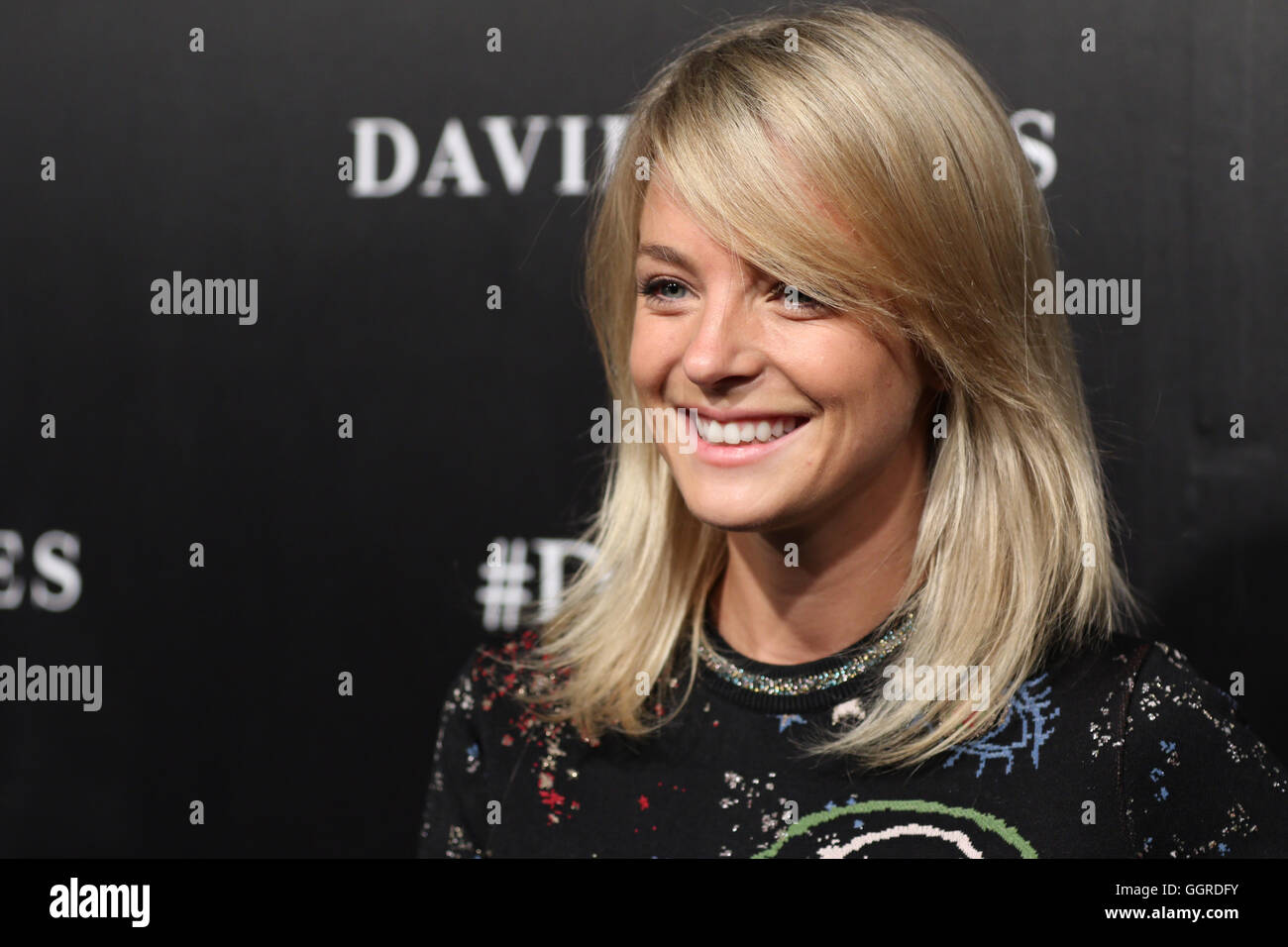 David Jones Spring Summer 2016 collections launch - celebrities arrive on the red (black) carpet - Nadia Fairfax. - Stock Image
