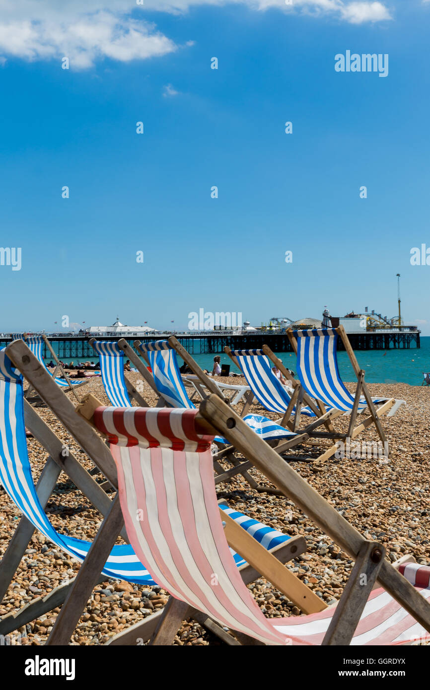 Typical English Summer - Brighton, UK - Stock Image