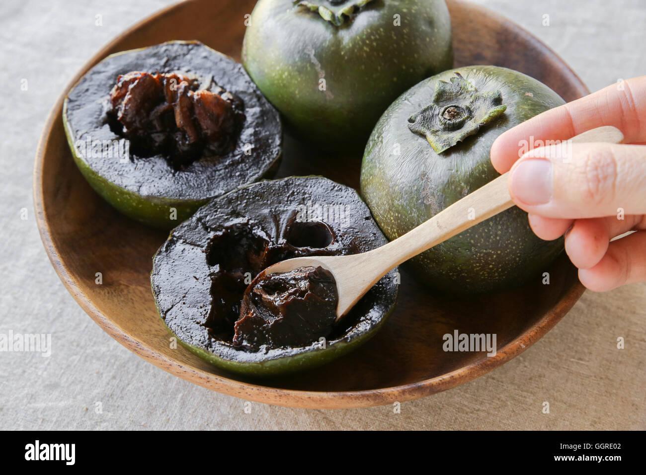 Black Persimmon 6 seeds Chocolate Pudding Fruit BLACK SAPOTE
