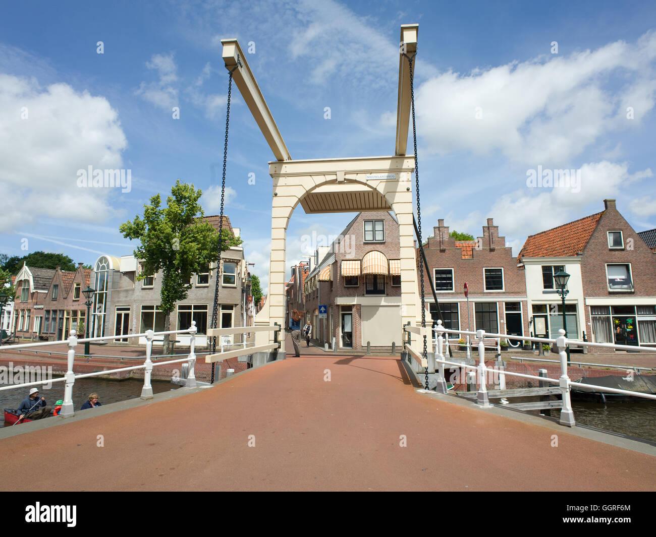 Dutch Cantilever Bridge Alkmaar Holland - Stock Image
