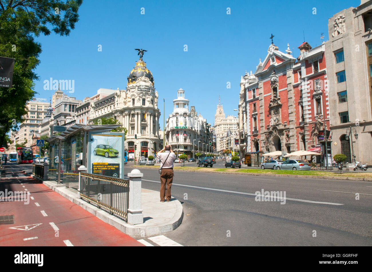 Alcala street. Madrid, Spain. Stock Photo