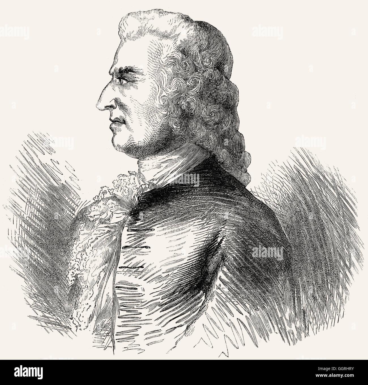 Jean Michel Papillon, French printmaker - Stock Image