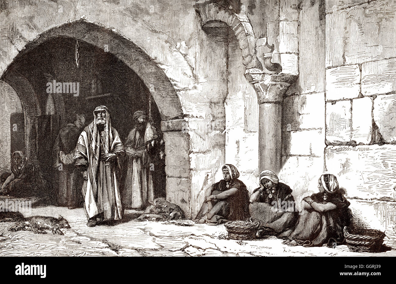 A street in Jerusalem; Israel, Middle Ages - Stock Image