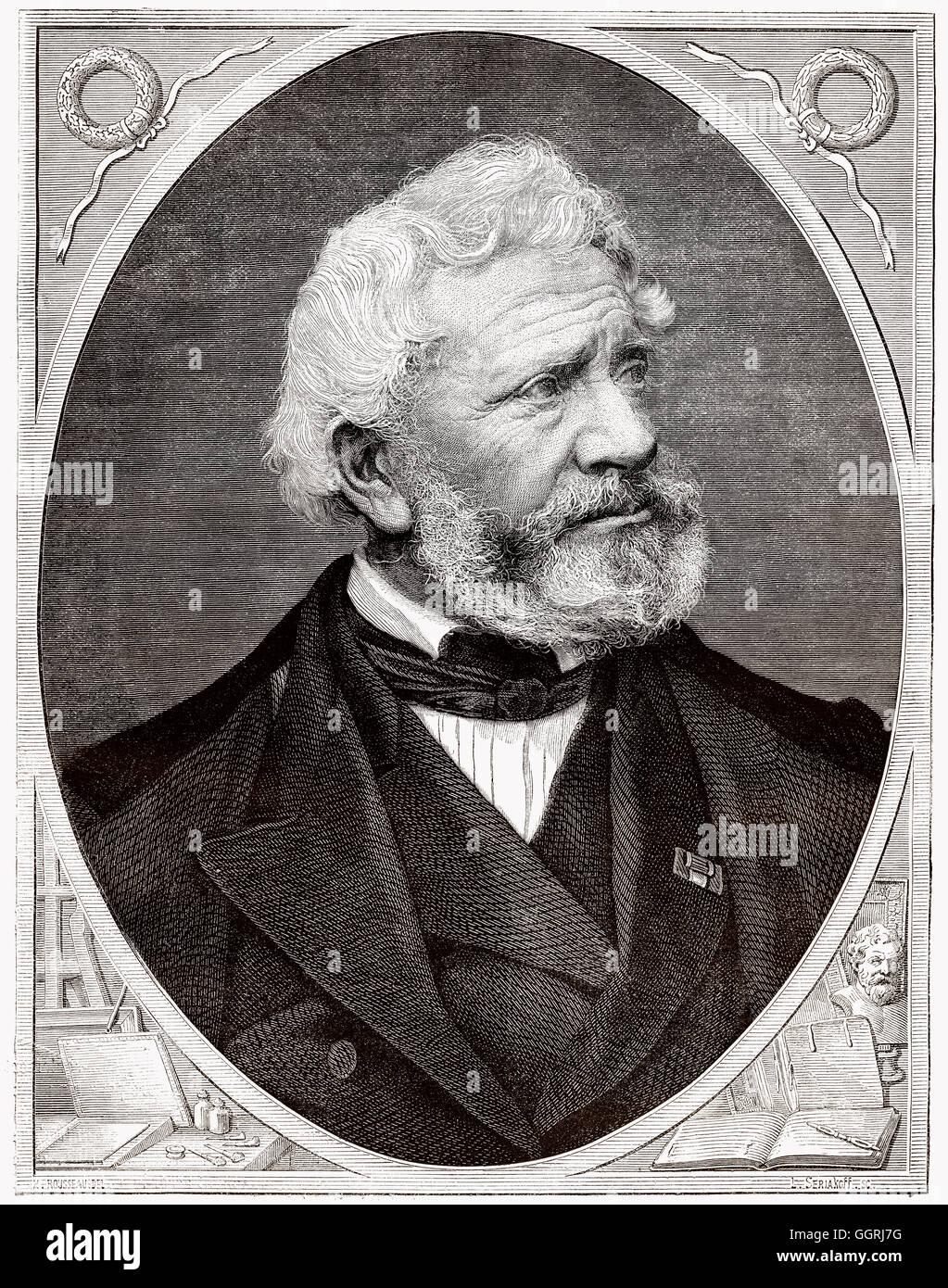 François Forster, 1790-1872, a French engraver - Stock Image