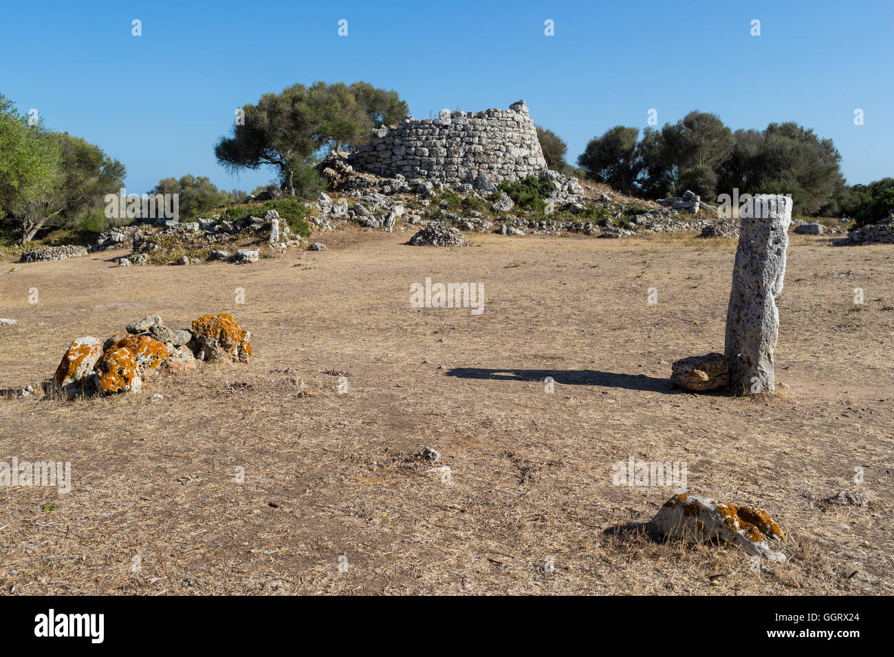 Prehistoric ruins of an ancient Minorcan village - Stock Image