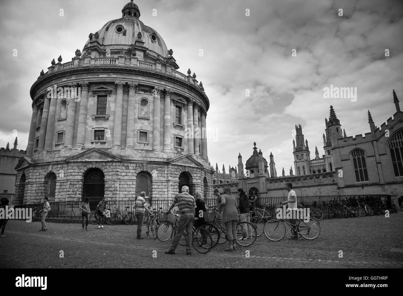 Radcliffe Camera, Oxford (University). 2016. Street Scene. This building was formerly known as 'Physics Library'. - Stock Image