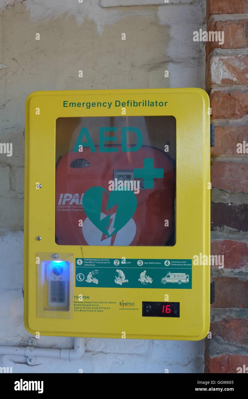 A public access defibrillator - Stock Image