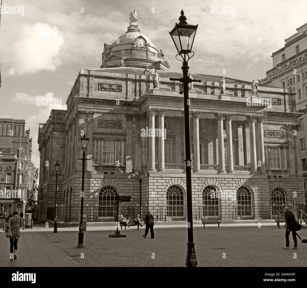 Liverpool Town Hall, Dale St,Merseyside,England,UK - sepia - Stock Image