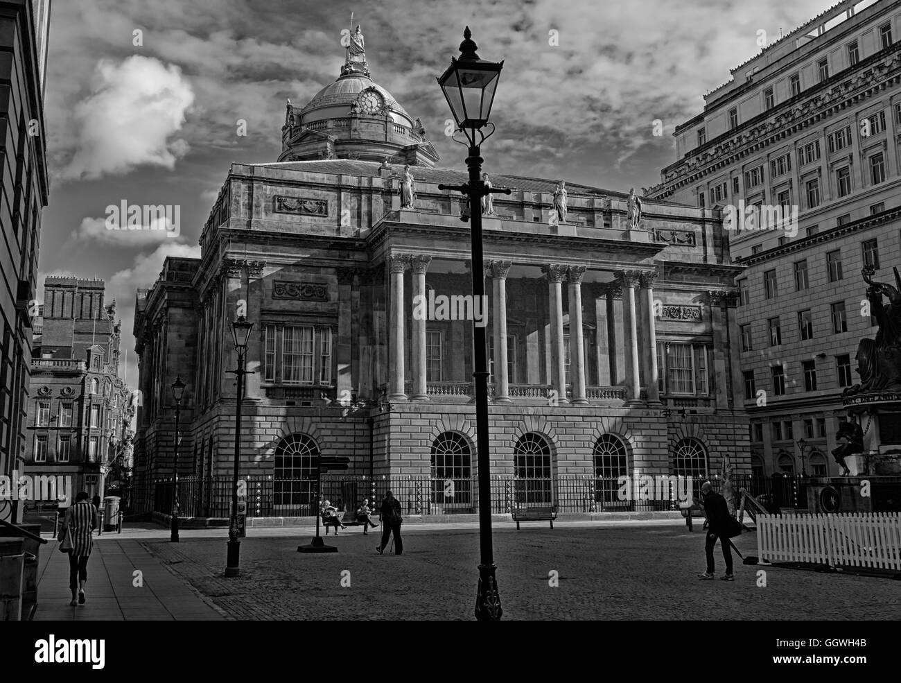 Liverpool Town Hall, Dale St,Merseyside,England,UK - Mono - Stock Image