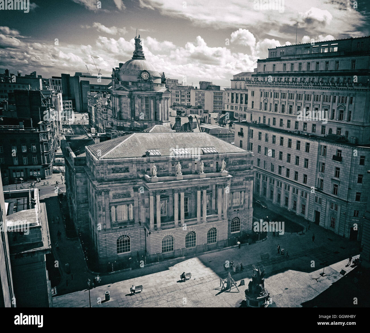 Liverpool Town Hall, Dale St,Merseyside,England,UK - Monochrome - Stock Image