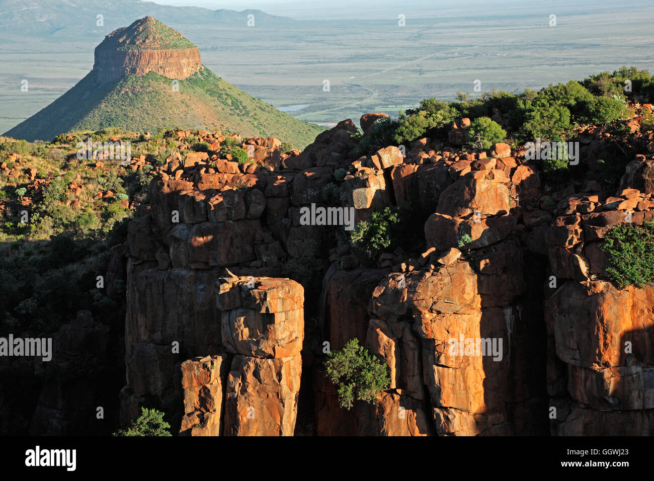 Valley of desolation, Camdeboo National Park, South Africa - Stock Image