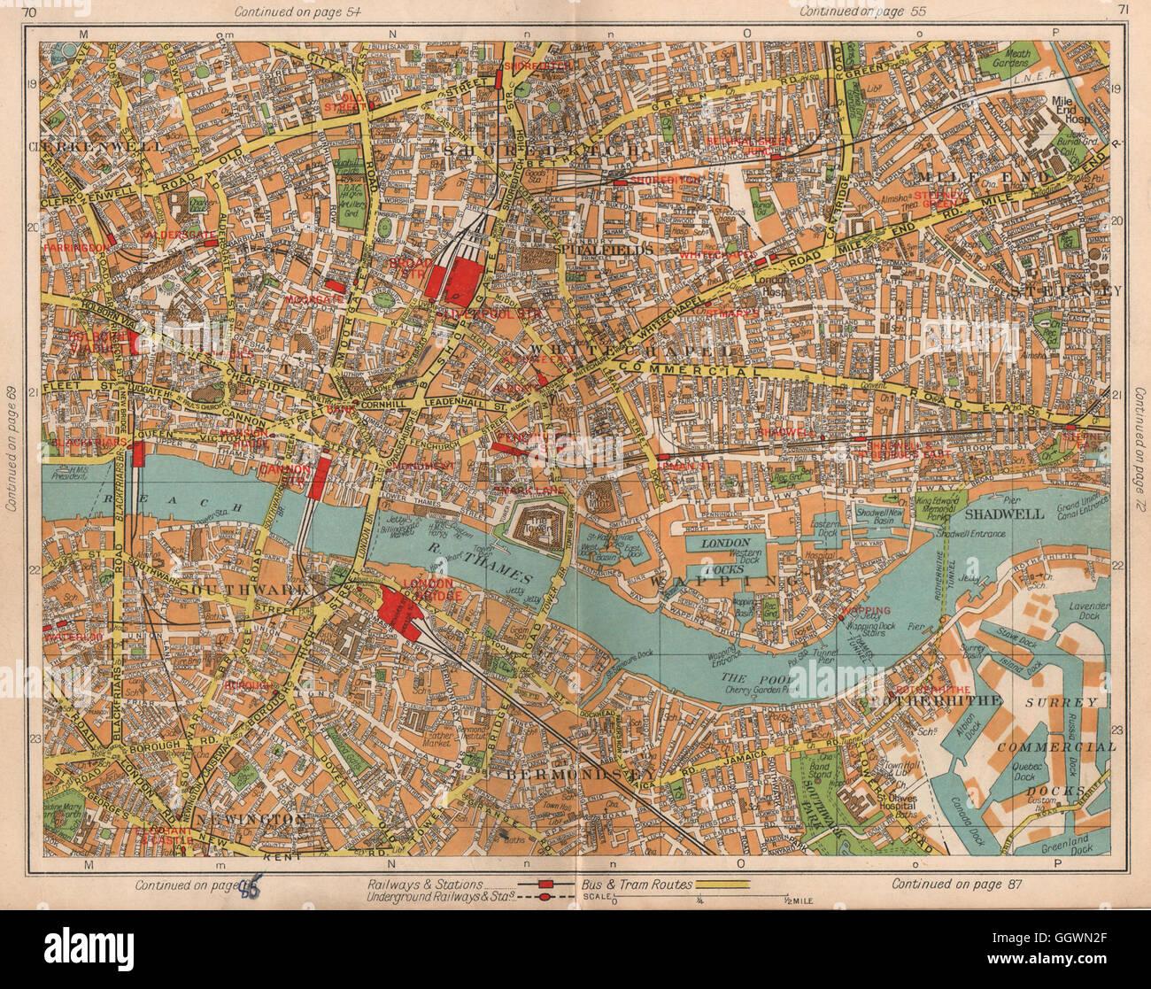 Shoreditch London Map Stock Photos Shoreditch London Map Stock