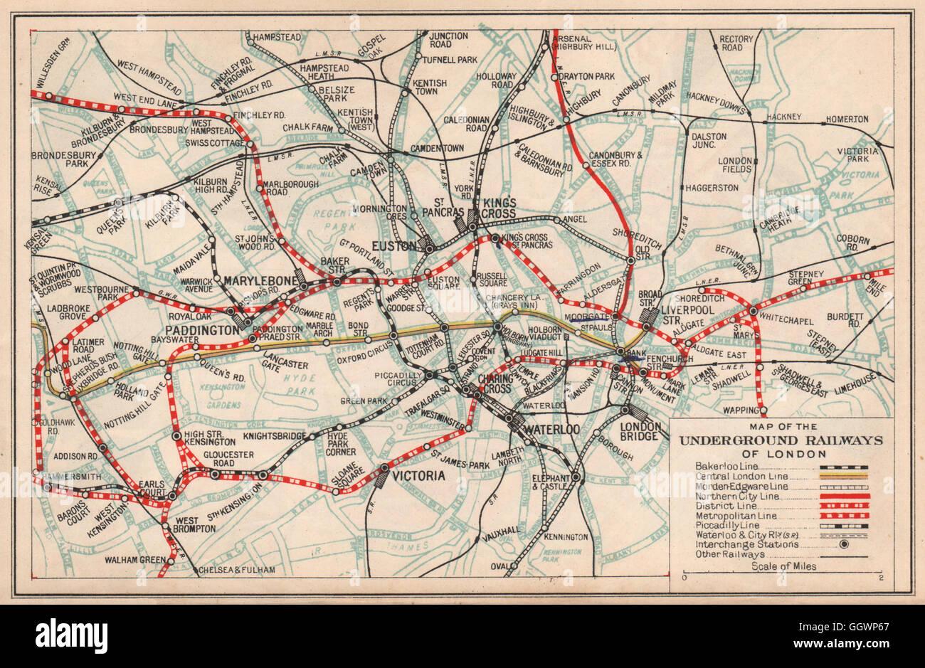 Vintage London Map Colour Stock Photos Vintage London Map Colour