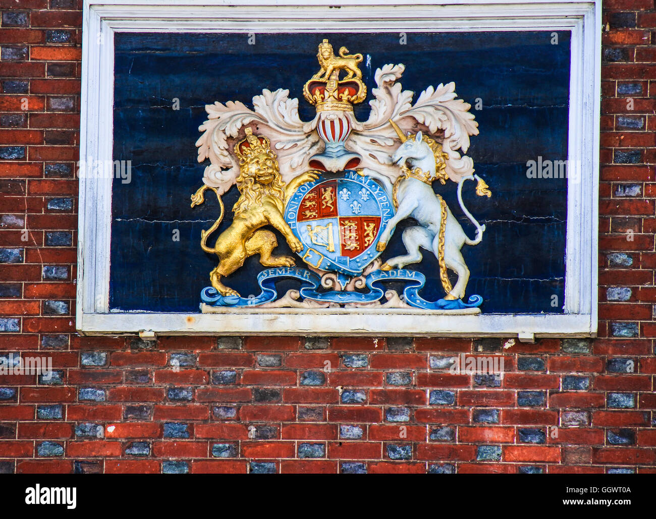 Logo of The Kings Arms Hotel, Berkhamsted, UK - Stock Image