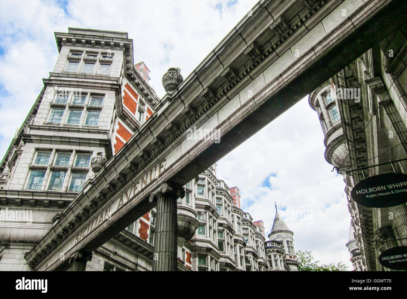 Sicilian Avenue is a beautiful pedestrian shopping street in the  Holborn district of central London, UK - Stock Image