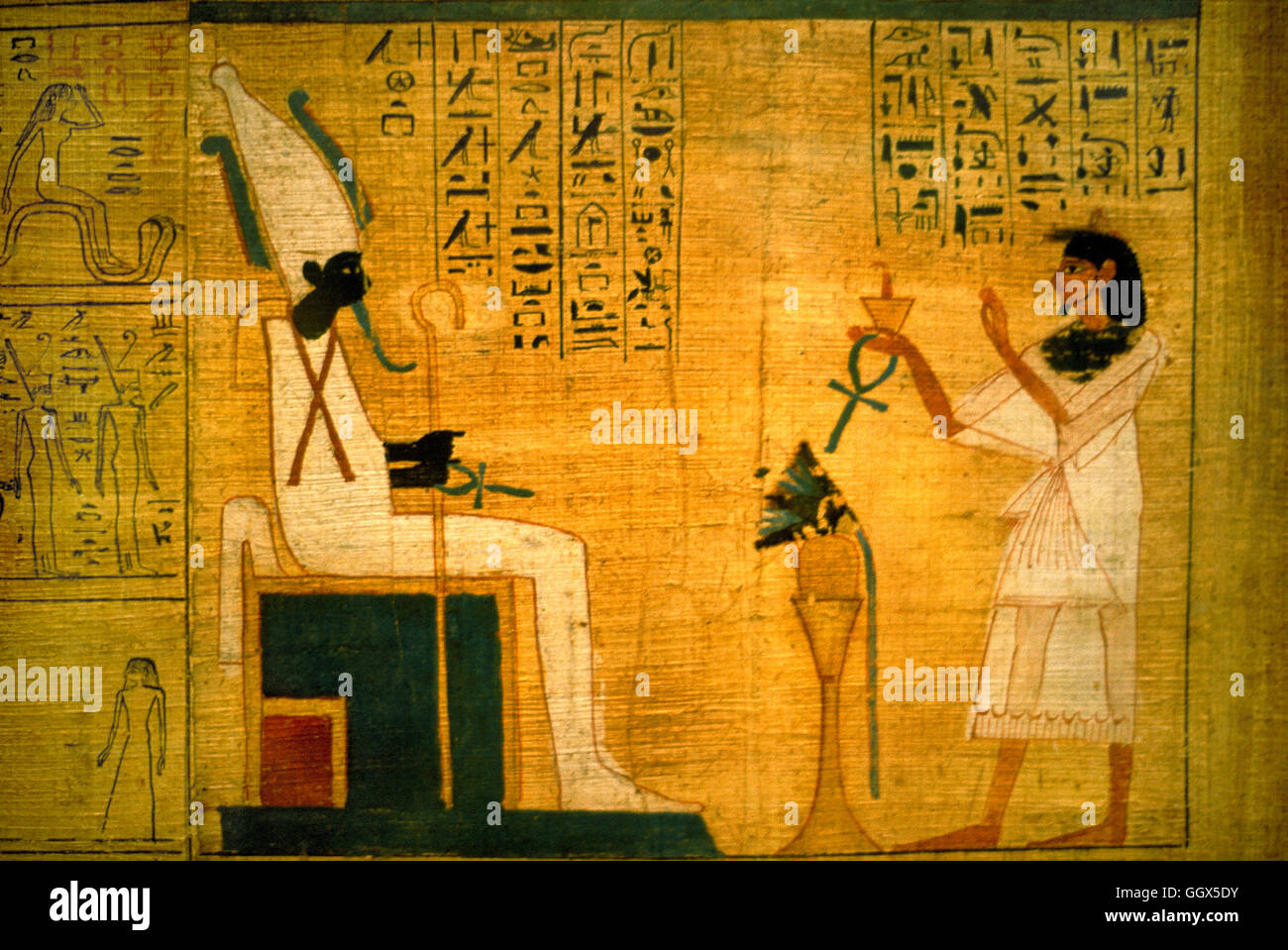 A Page From The Egyptian Book Of Dead On Papyrus Found In Tut Ankh