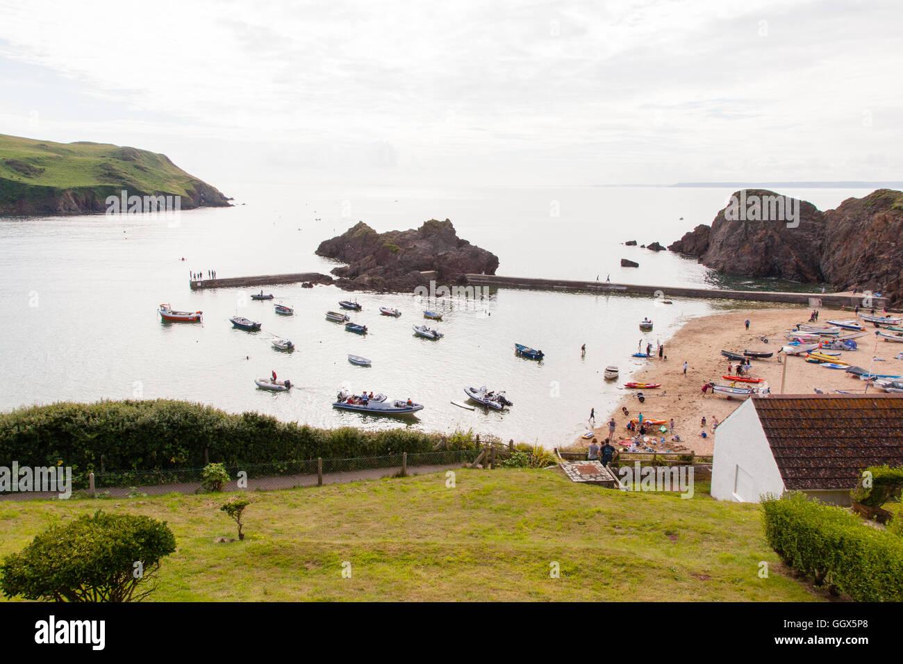 Hope Cove, South Hams, Devon, England, United Kingdom. - Stock Image