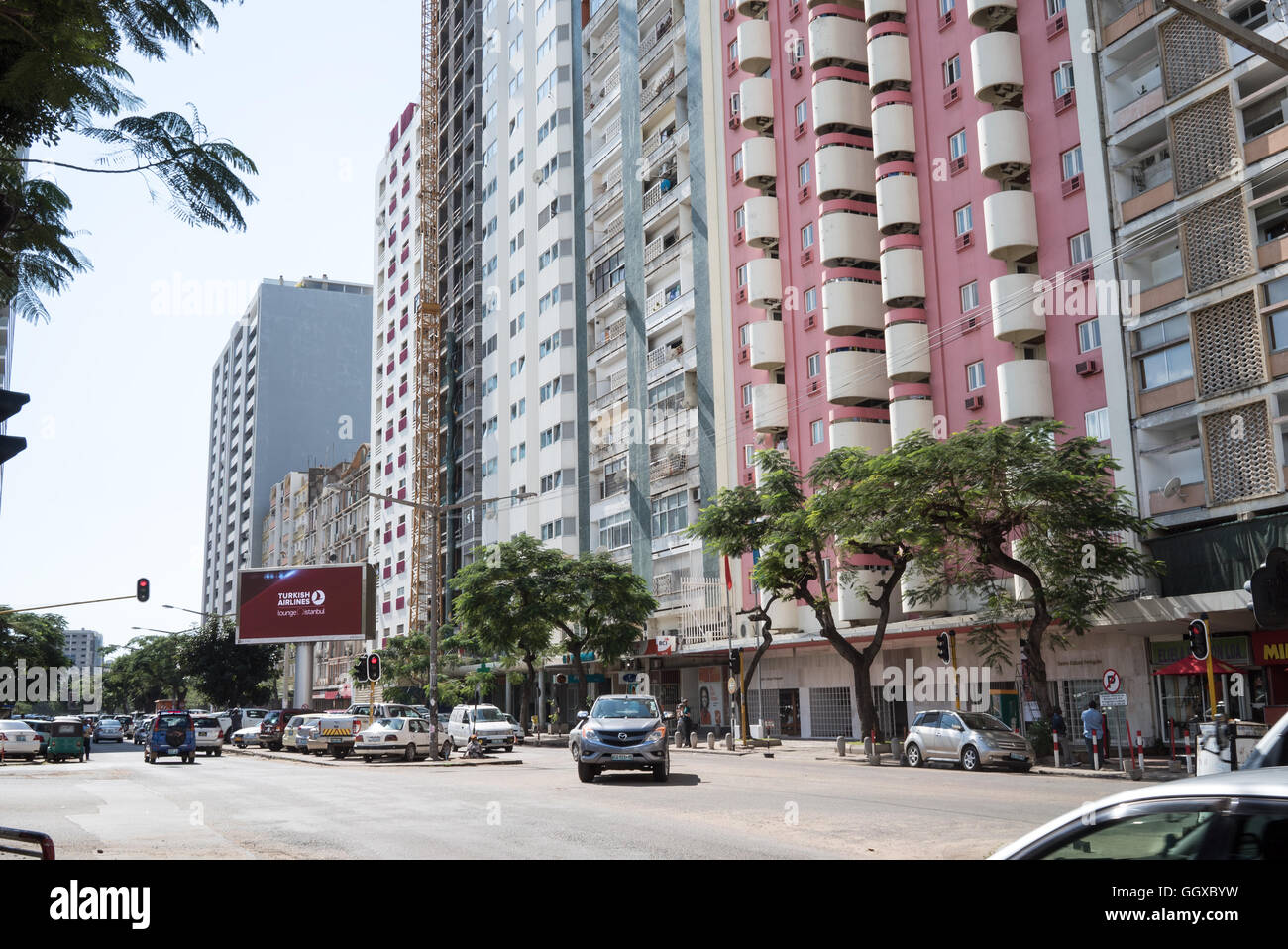 Street life in Maputo, the capital of Mozambique Stock Photo