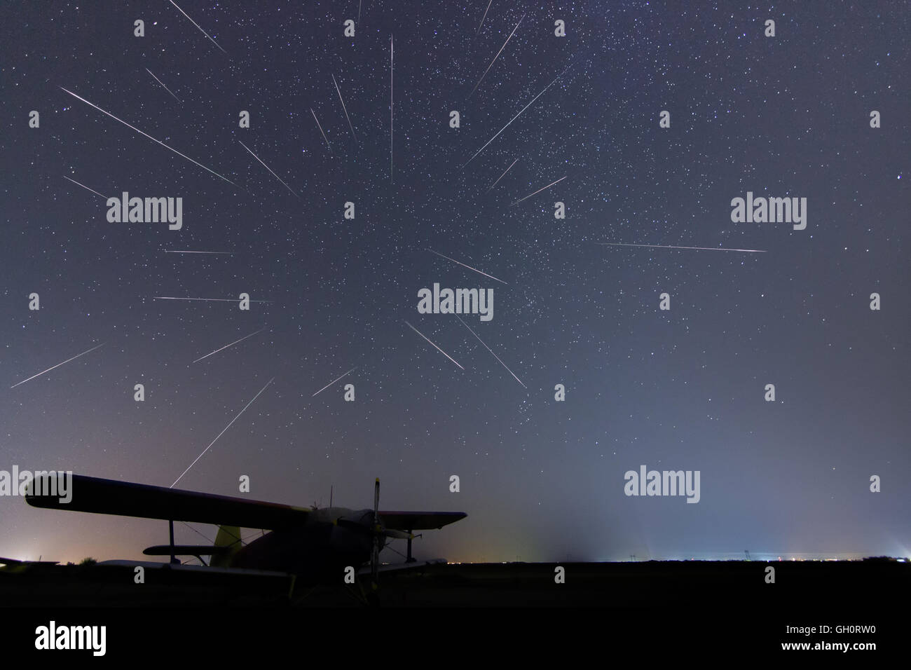 Dark August Night Sky Stock Photos & Dark August Night Sky ...