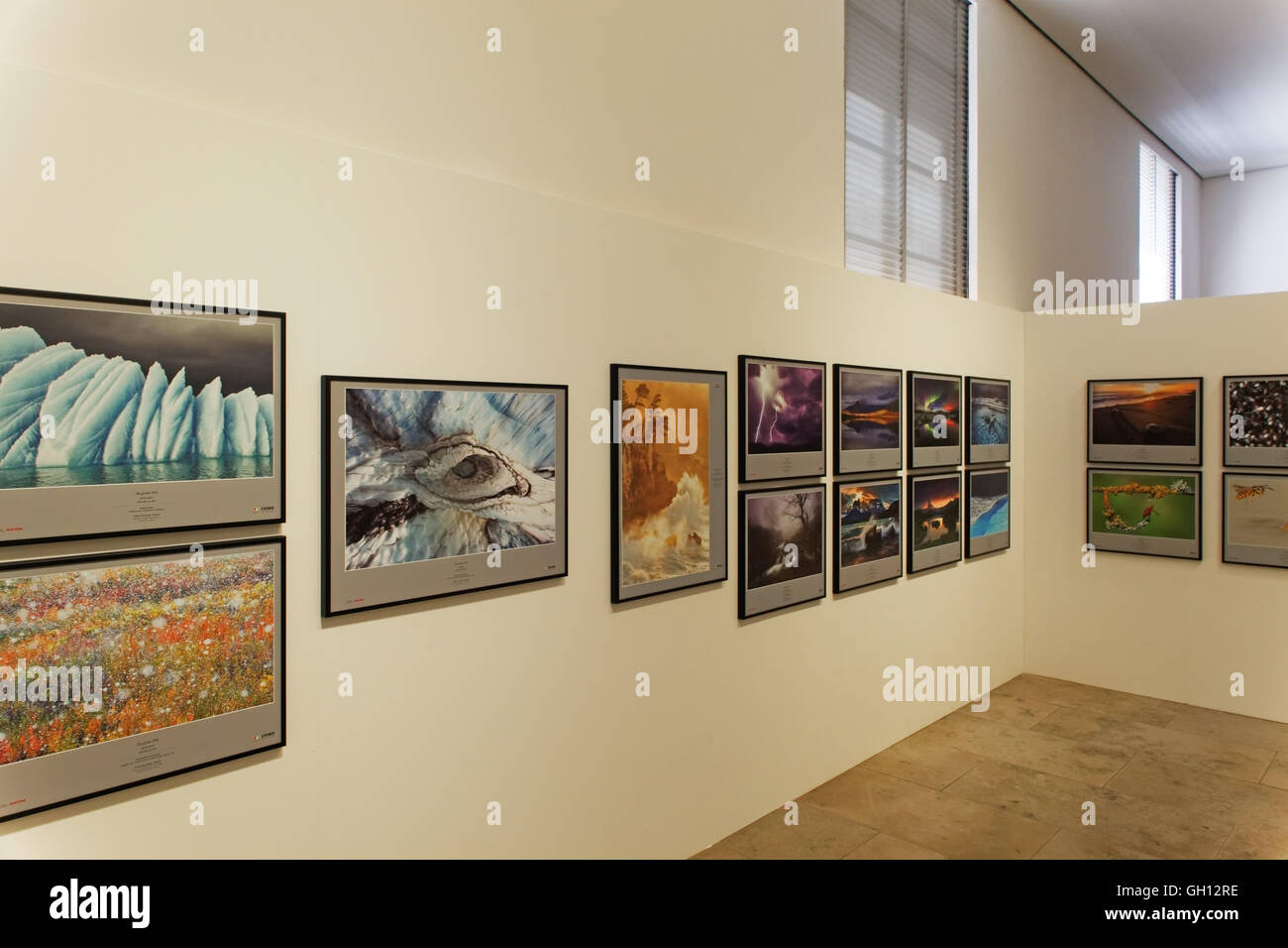 Glanzlichter 2016, Nature Photography exhibition shown at the Naturkunde Museum Karlsruhe, Germany - Stock Image