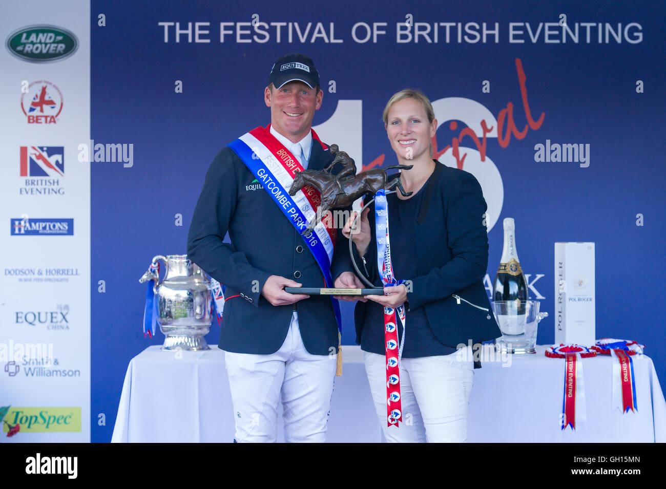 Festival of British Eventing, Gatcombe Park, Minchampton, Gloucestershire, England, 7th August 2016, Zara Tindall - Stock Image