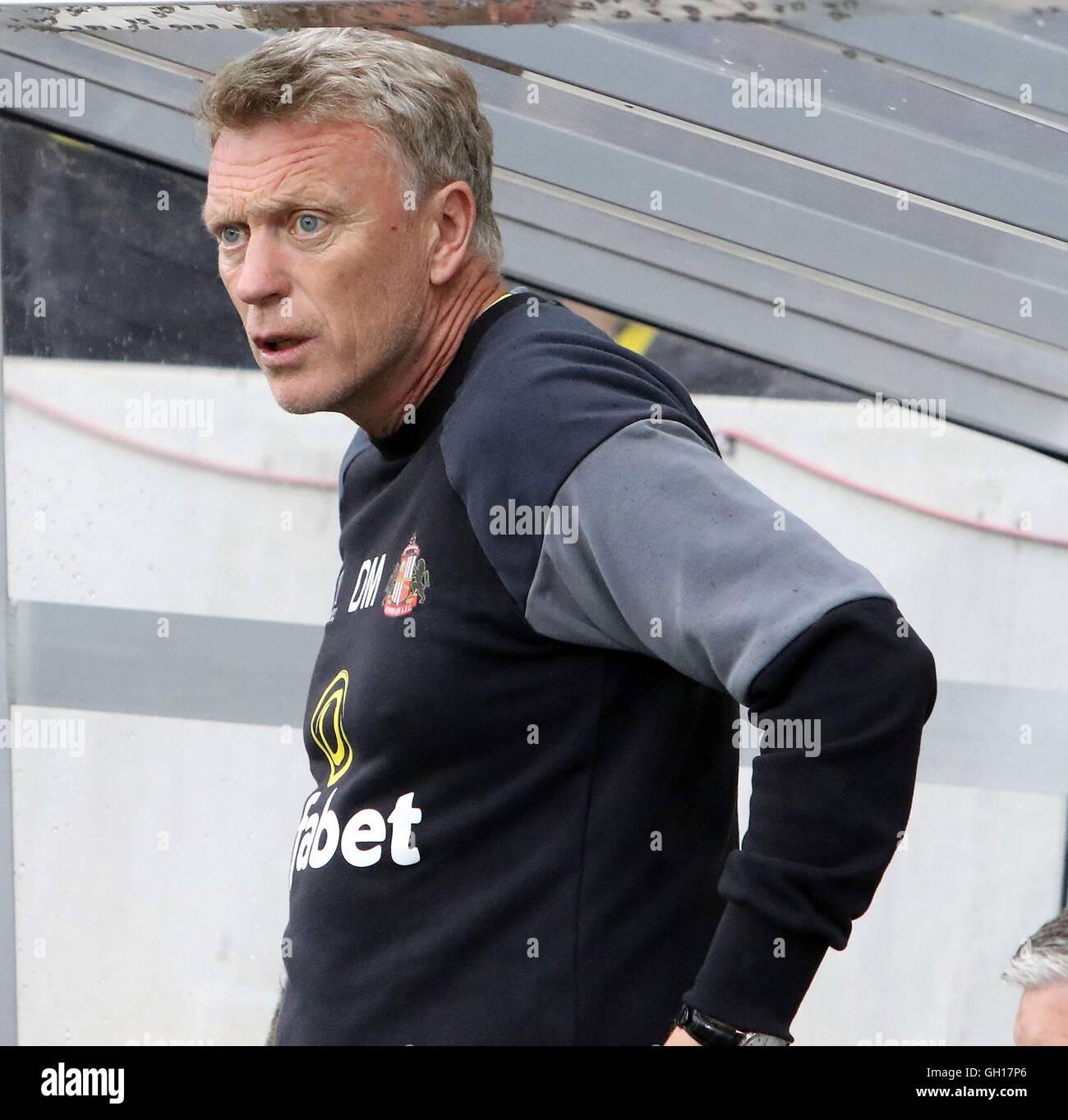 Altach, Bavaria, Germany. 5th Aug, 2016. manager David MOYES (Sunderland), .pre season friendly.Borussia Dortmund - Stock Image
