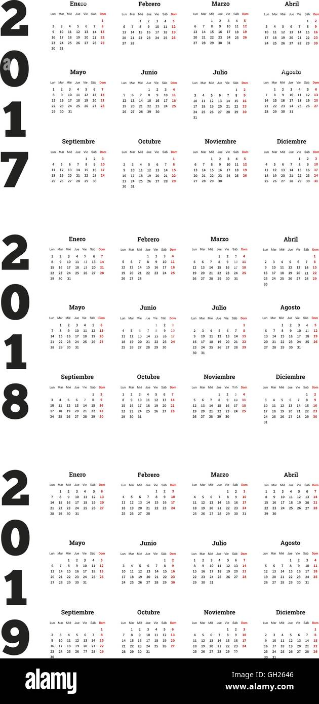 Calendario 2018 2019.Calendario 2018 Stock Photos Calendario 2018 Stock Images