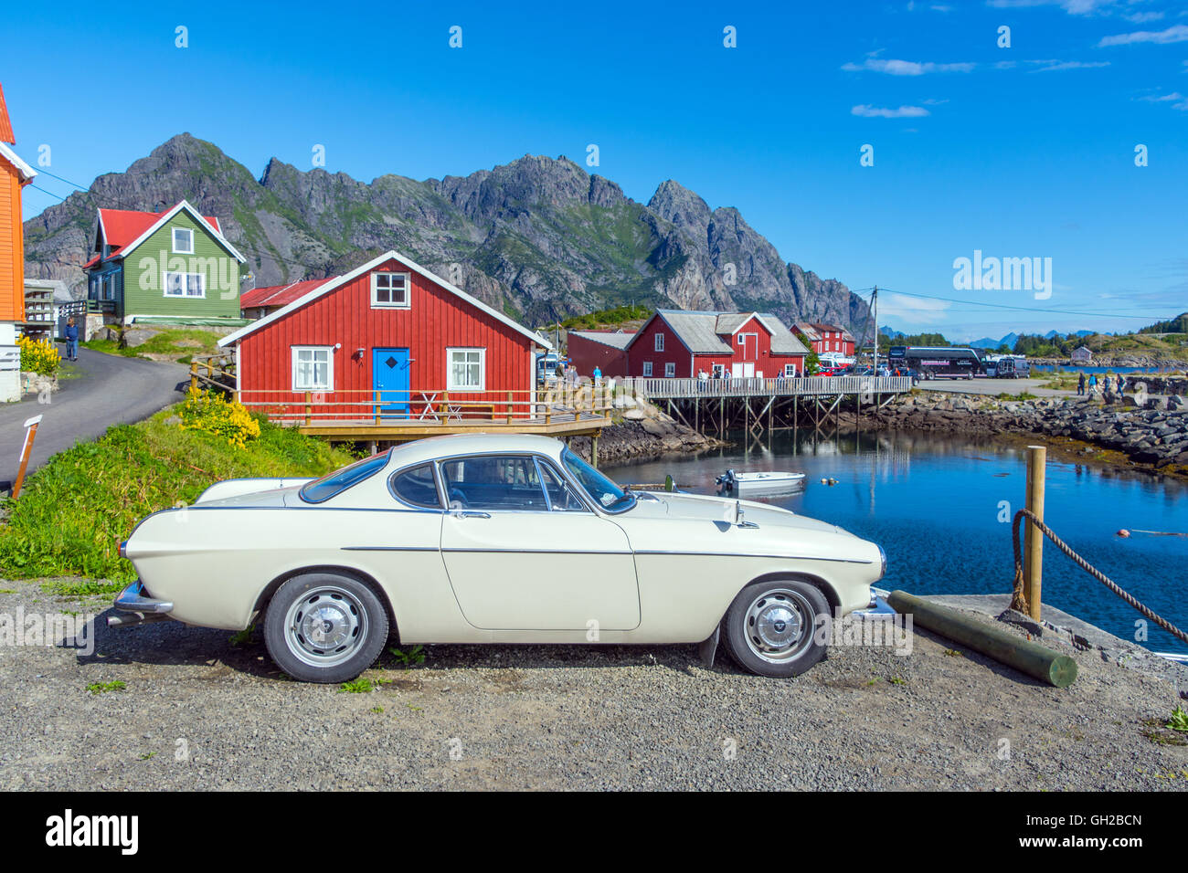 Volvo P1800 Jensen as driven by The Saint, Roger Moore - Stock Image