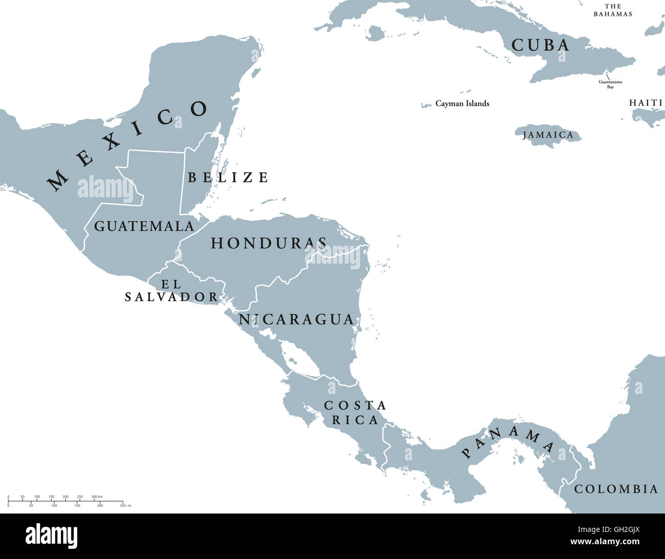 Belize map stock photos belize map stock images alamy central america countries political map with national borders from mexico to colombia connecting north gumiabroncs Images
