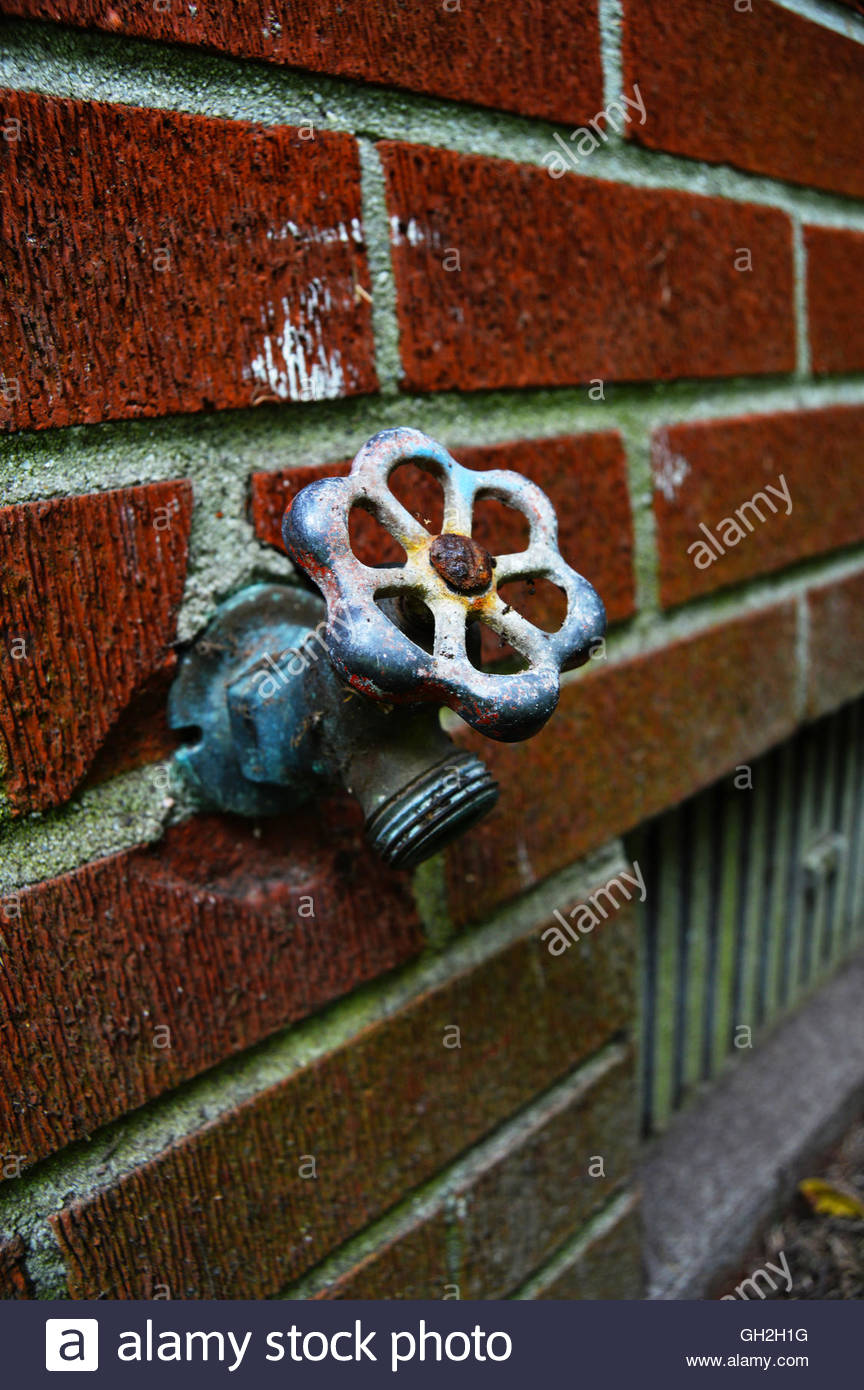 Old rusty water faucet in Hampton, Virginia Stock Photo: 113768636 ...