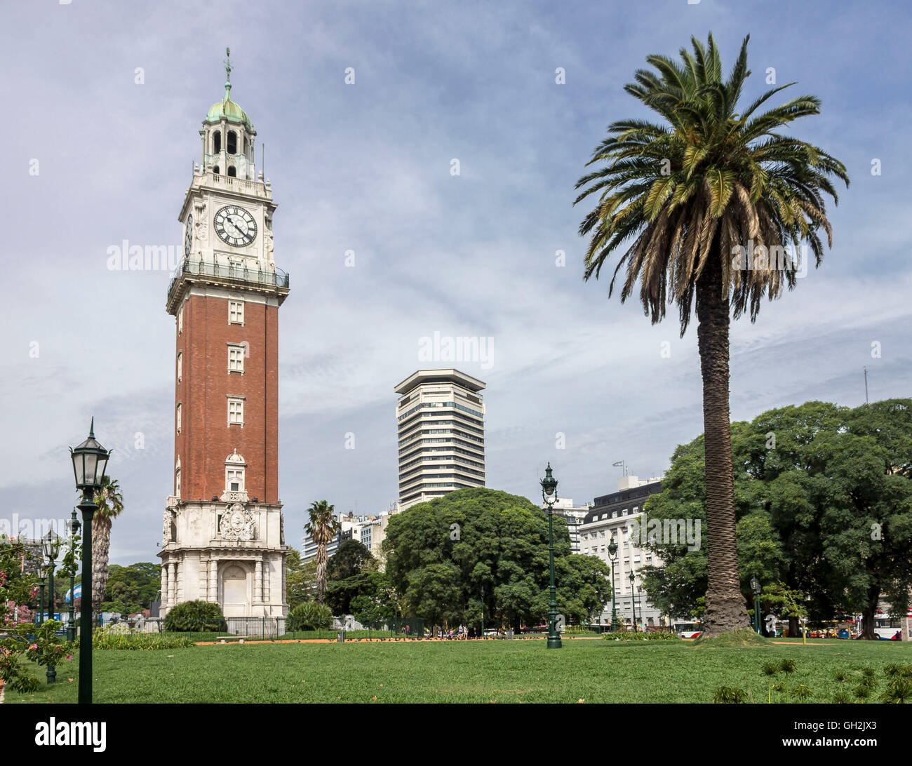 Torre Monumental Clock Tower Plaza San Martin, Buenos Aires, Argentina - Stock Image