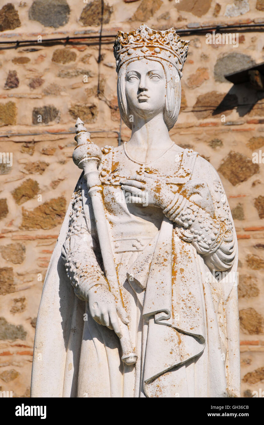 geography / travel, Spain, statue in front of the Palacio de La Cava, Toldeo, Additional-Rights-Clearance-Info-Not - Stock Image