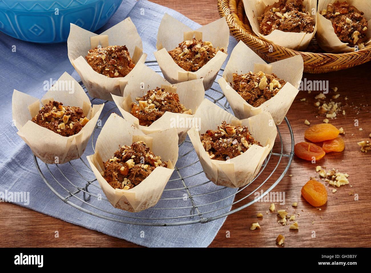Apricot_muffins - Stock Image
