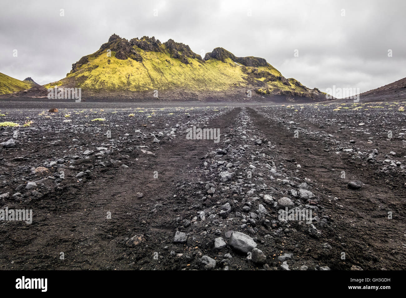 Laugavegur trail in Iceland - Stock Image