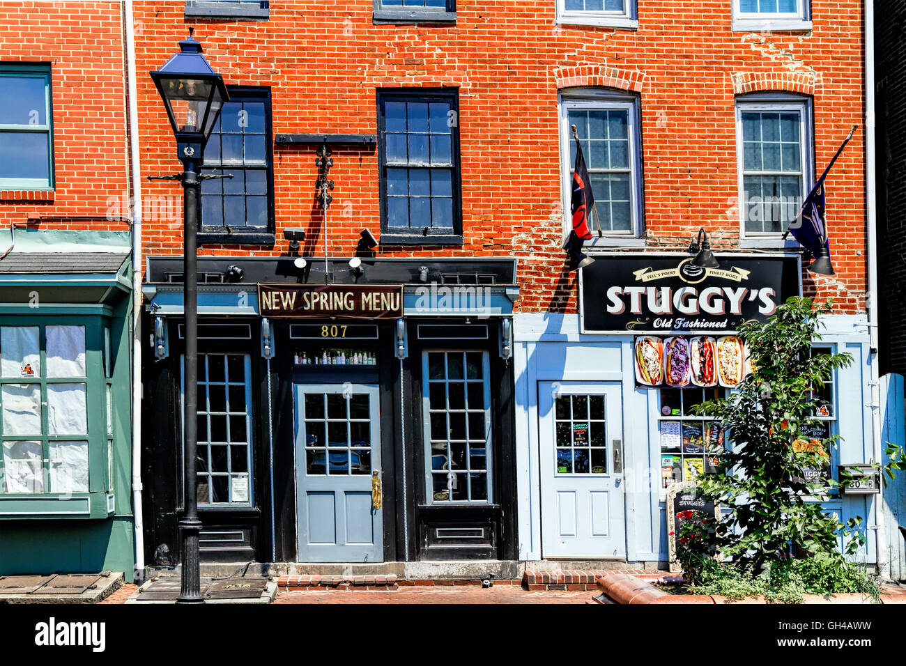 Frontal View of a  Pub at Fells Point, Baltimore, Maryland - Stock Image