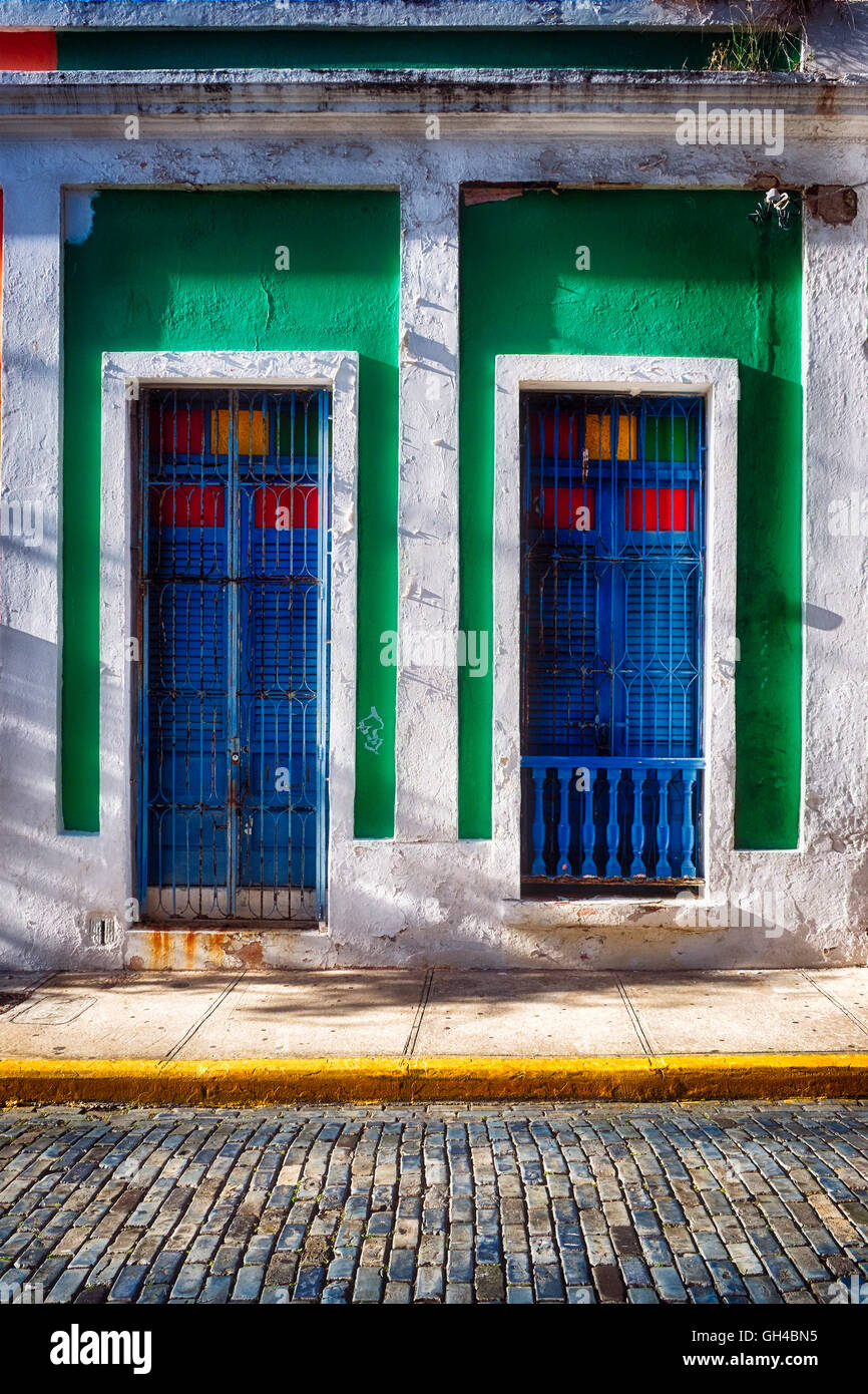 Colorful Doors of Spanish Colonial Style Houses Old San Juan Puerto Rico & Colorful Doors of Spanish Colonial Style Houses Old San Juan ...