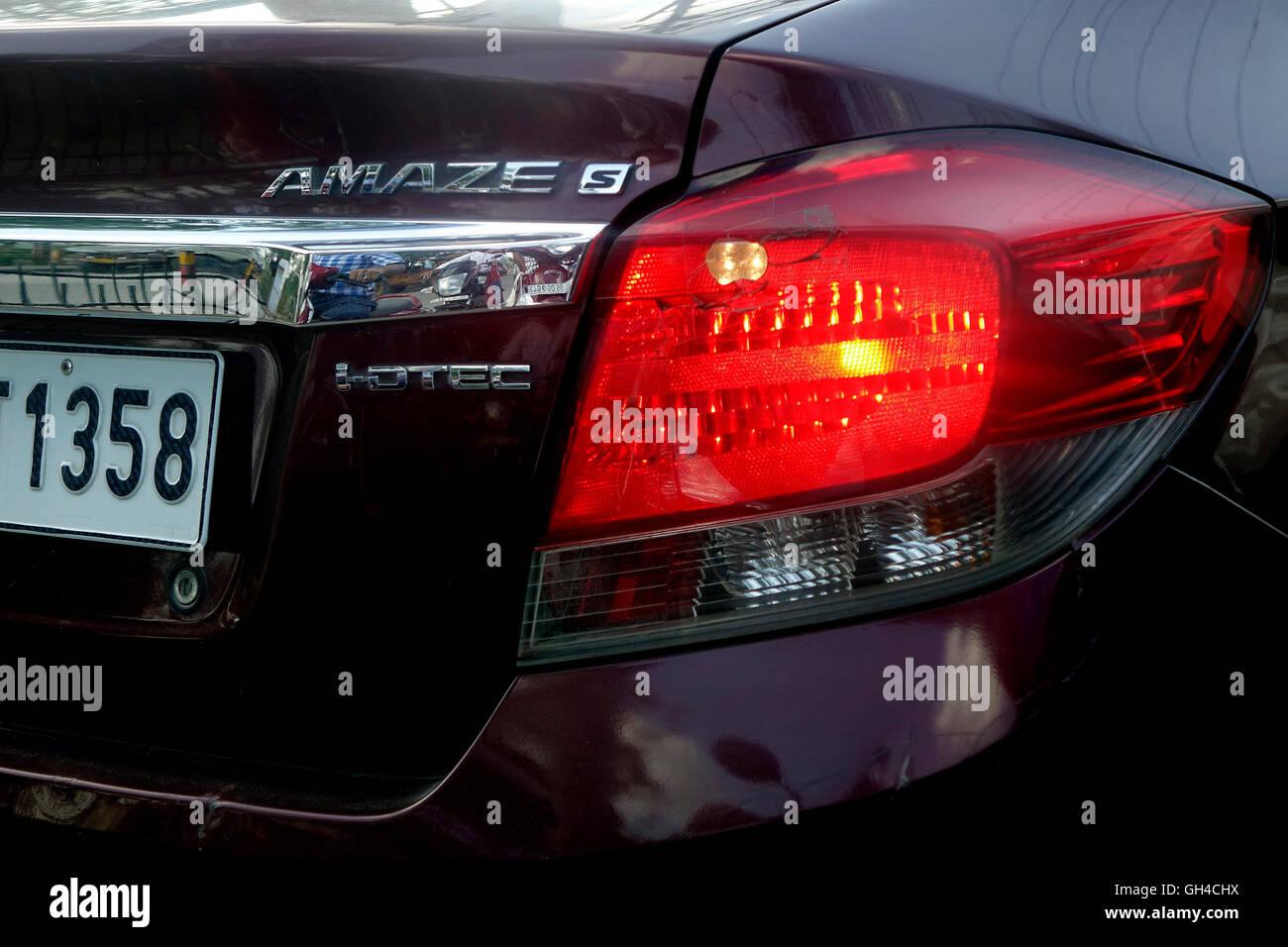 Close-up of a passenger car. - Stock Image