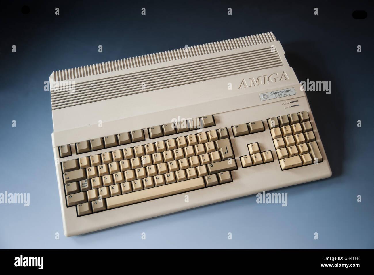 Amiga Commodore A500+ Computer - Stock Image