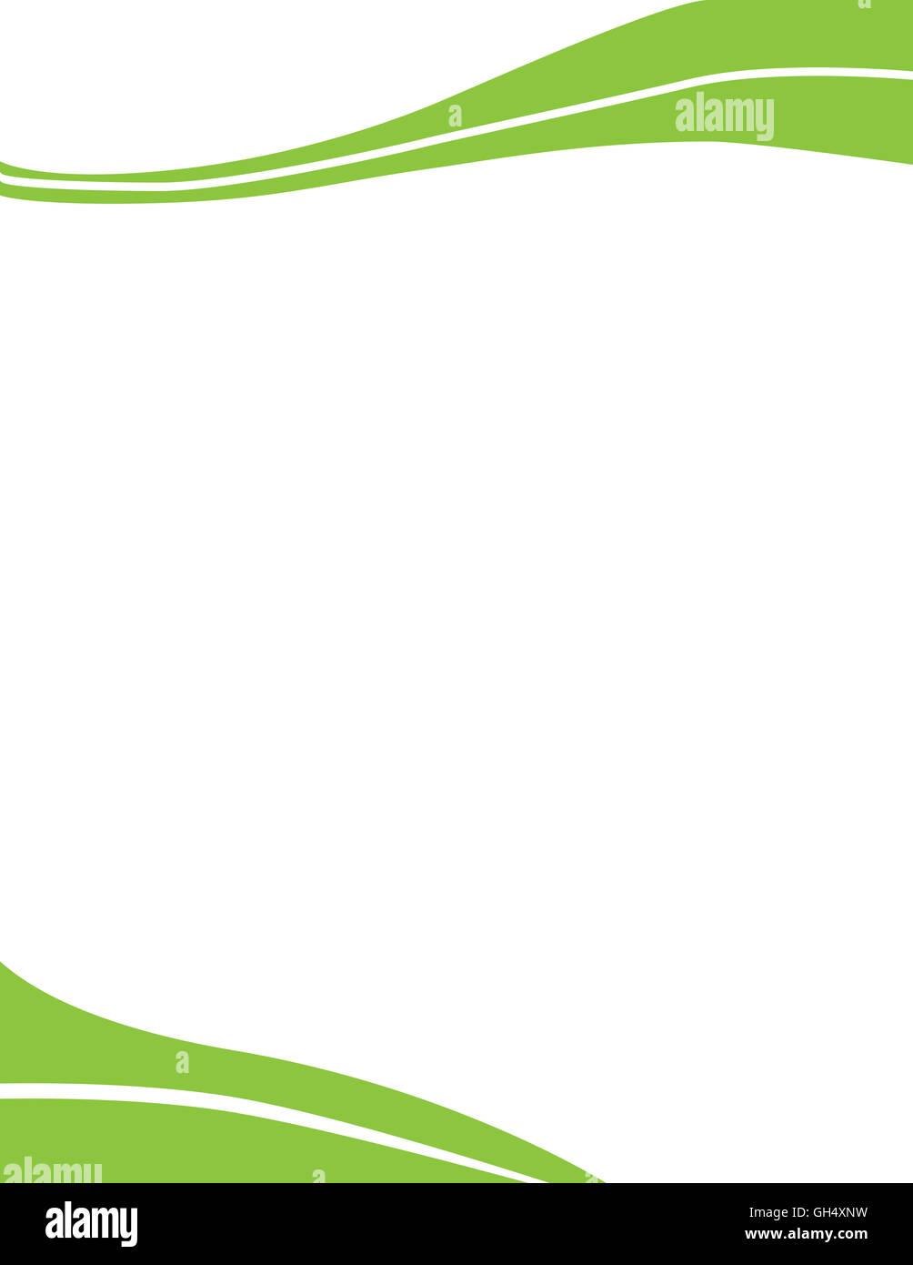 green professional letterhead template stock photo 113820165 alamy